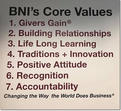 BNI Central Virginia Core Values